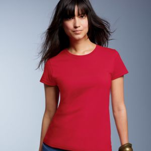 Ladies' Midweight Mid-Scoop Cotton Tee Thumbnail