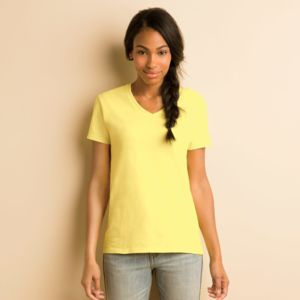 Heavy Cotton™ Ladies' V-Neck T-Shirt Thumbnail